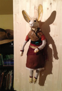 Rabbit Doll with wire armature